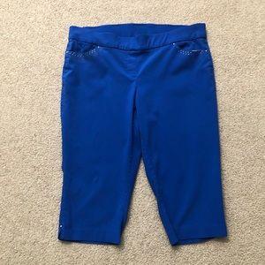 Kim Rogers Curvy Royal Blue Capri Pants